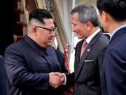 Kim Jong-un llega a Singapur para la reunión con Trump