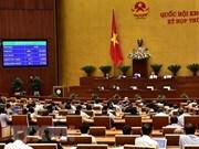 Parlamento de Vietnam adopta dos resoluciones y tres proyectos de ley