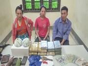 Desmantelan red de tráfico de drogas en frontera Vietnam-Laos