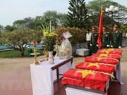Inhuman en Dien Bien restos de combatientes voluntarios vietnamitas en Laos