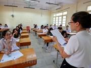 Más de 900 mil alumnos de preuniversitario inician en Vietnam pruebas finales