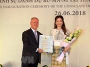Artista vietnamita nombrada como cónsul honoraria de Rumania en Ciudad Ho Chi Minh