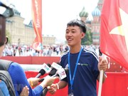 Mundial Rusia 2018: niños vietnamitas participan en festival de fútbol en Moscú