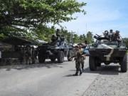 Ejército filipino toma control de un pueblo en el sur del país