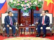 Presidente de Vietnam insta a formentar cooperación parlamentaria entre su país y Laos