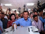Dirigentes vietnamitas congratulan a Camboya por éxito de las elecciones legislativas