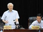 Máximo dirigente político de Vietnam elogia logros del sector de propaganda y educación