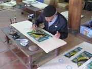 Realizan esfuerzos en Vietnam para salvar la pintura folklórica de Dong Ho