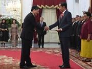 Presidente indonesio desea fortalecer cooperación multifacética con Vietnam