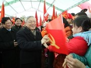 Líder vietnamita visita tierra revolucionaria por el Tet