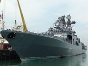Llega flota rusa a Viet Nam