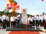 Viet Nam y Laos inauguran hito fronterizo común