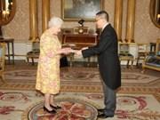 Embajador vietnamita presenta cartas credenciales en Reino Unido