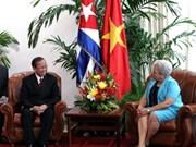 Viceprimer ministro vietnamita de visita en Cuba
