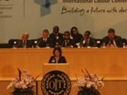 Interviene ministra vietnamita en reunión de OIT