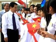 Presidente vietnamita inaugura escuela para alumnos étnicos