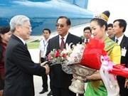 Secretario general del PCV concluye visita a Laos