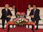 Visita del secretario general del PCV sobresale en Laos