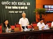 Sesiona Comité Permanente del Parlamento vietnamita