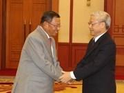 Recibe secretario general vietnamita a dirigente camboyano