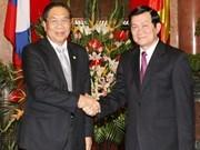 Reciben dirigentes vietnamitas a presidente laosiano