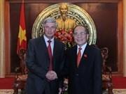 Recibe dirigente vietnamita a vicepresidente ruso