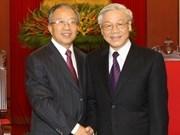 Dirigentes vietnamitas reciben a consejero de estado chino