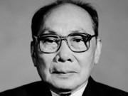 Falleció ex presidente Vo Chi Cong