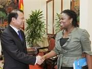 Recibe vicepremier vietnamita a directora del Banco Mundial