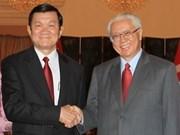 De visita en Singapur presidente vietnamita