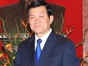 Presidente vietnamita inició visita a Sudcorea