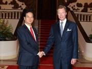 Intensifican Viet Nam y Luxemburgo cooperación multifacética