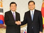 Presidente vietnamita se reúne con dirigentes sudcoreanos