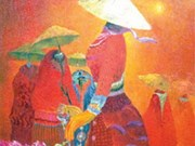 Artista exalta sombrero cónico vietnamita