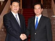 Primer ministro vietnamita recibe a vicepresidente chino