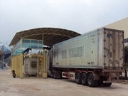 Entra en operación escáner de contenedores en puerta fronteriza de Lao Bao