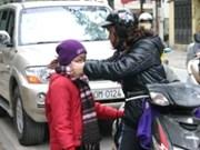 Ola de frío golpea Norte y centro de Vietnam