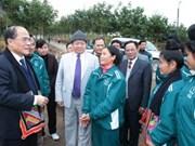 Presidente de Parlamento visita planta hidroeléctrica de Son La