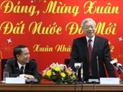 Máximo dirigente partidista felicita a VNA por el Tet