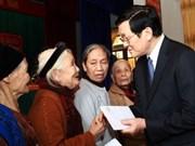 Recorre presidente vietnamita provincias centrales en ocasión del Tet