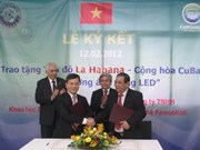 Vietnam entregará lámparas LED a la Habana