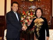 Vicepresidenta vietnamita recibe a delegación norcoreana