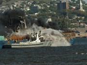 Dos vietnamitas muertos en incendio de barco en Uruguay