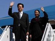 Premier Nguyen Tan Dung arriba a Sudcorea