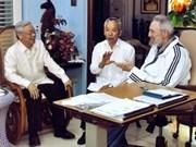 Recibe Fidel Castro a Nguyen Phu Trong