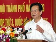 Primer ministro vietnamita dialoga con electores