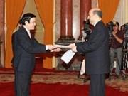 Embajadores entregan cartas credenciales