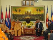 Elogia religioso vietnamita logros de Cambodia