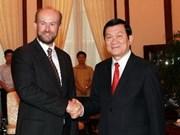 Presidente vietnamita recibe a embajador australiano
