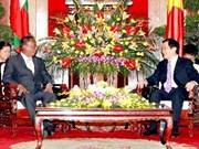 Dirigentes vietnamitas reciben a presidente parlamentario de Myanmar